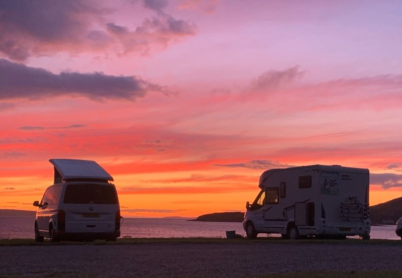 Ardmair Touring park sunset