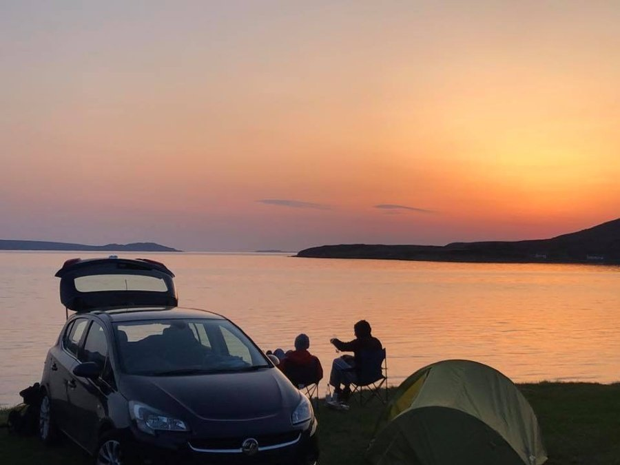 Ardmair Point Holiday park sunset
