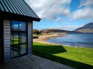Ardmair point self-catering lodge decking
