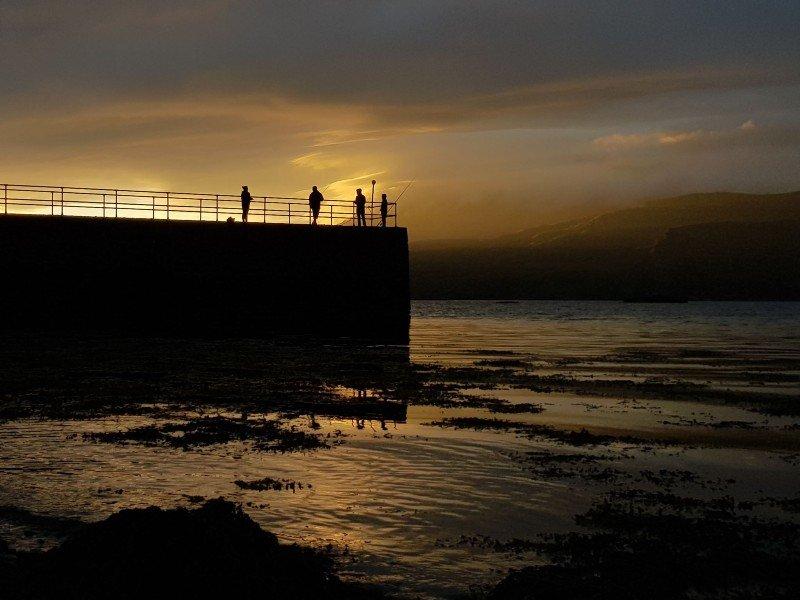 Ardmair point sunset sea view
